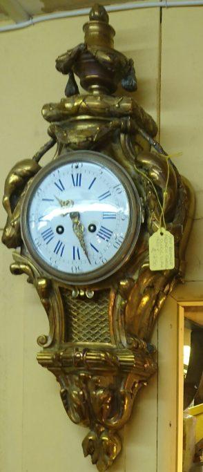 French Cartel Clock circa 1820. Gilt Bronze. Price £1,250.